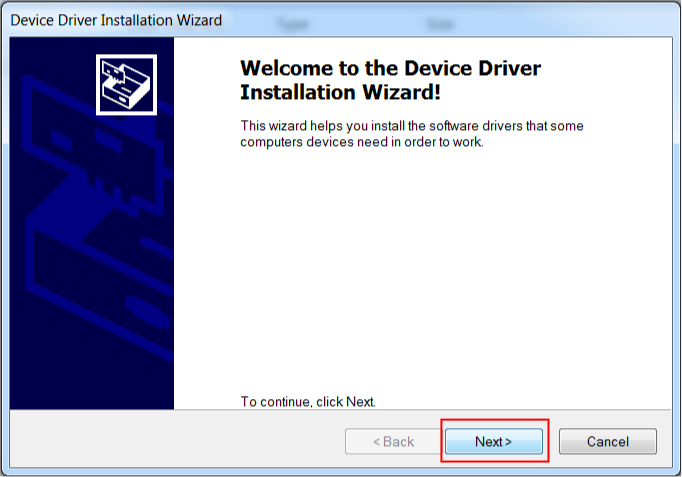 Figure-3: Device Driver Installation Wizard