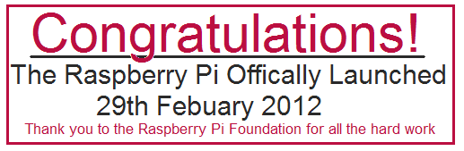Raspberry Pi Launched
