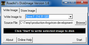 Selecting the Angstrom image