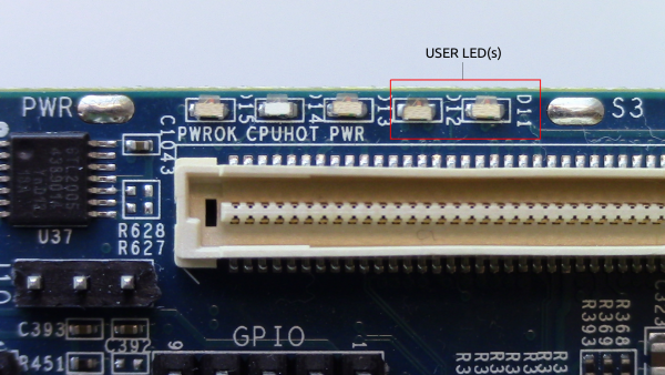 Figure-1: LED(s) on the MinnowBoard